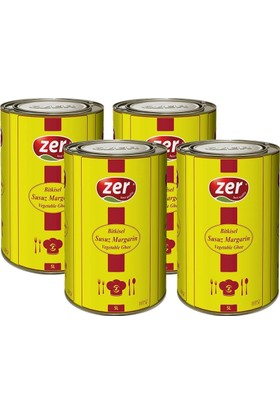 Zer Margarin 5 lt x 4 Teneke Kutu