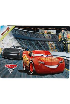 Woody Disney Cars 3 Şimşek McQueen Ve Jackson Storm 12 Parça Ahşap Oyuncak Yapboz