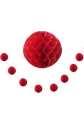 Miray Süs Süs Ponpon Petek 8 Li Küçük Boy Kırmızı 8 Adet