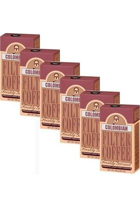 Kurukahveci Mehmet Efendi Colombian Filter Coffee 250gr 6 'I Set
