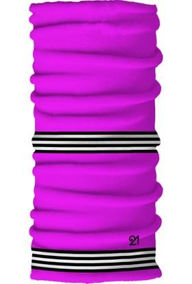Fit21 Neon Pembe İnce Bandana Ve Spor Saç Bandı