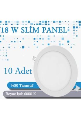 Sesay Slim Panel Beyaz 18W / 10 Adet