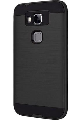 Gpack Huawei G8 Kılıf Heavy Duty + Nano Glass Siyah