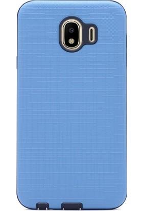 Gpack Samsung Galaxy J4 Kılıf New Youyou Sert Lüx Silikon Turkuaz