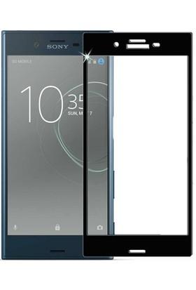 Gpack Sony Xperia XZ Premium Full Kapatan Renkli Cam Siyah