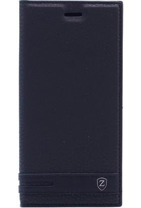 Gpack Huawei Honor 7x Kılıf Elite Gizli Mıknatıslı Kapaklı + Nano Glass Siyah