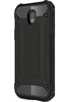Gpack Samsung Galaxy J3 Pro 2017 Kılıf Crash Tank Ultra Koruma Siyah