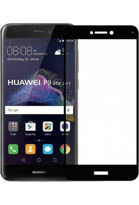 Gpack Huawei P9 Lite 2017 Full Kapatan Renkli Cam Siyah