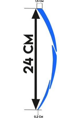 Çınar Extreme Beyaz RKS Yazılı 3 Parçalı Reflektif Mavi RKS Jant Şeridi Sticker