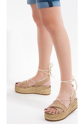 Fox Shoes Ten Kadın Dolgu Topuklu Ayakkabı D602057502