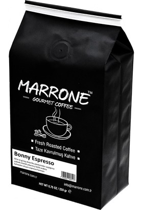 Marrone Bonny Espresso Nitelikli Taze Kavrulmuş Espresso Kahve Harmanı 250 gr