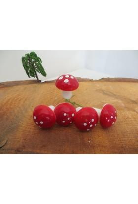 Green Wood Teraryum Malzemeleri Köpük Büyük Mantar Süs(Telli) 5'li