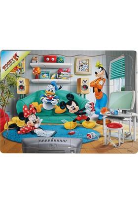 Woody Mickey Mouse Ve Arkadaşları 12 Parça Ahşap Oyuncak Yapboz Ev Partisi