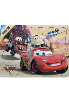 Woody Disney Cars Şimşek McQueen Ve Arkadaşları 12 Parça Ahşap Oyuncak Yapboz Kanyon