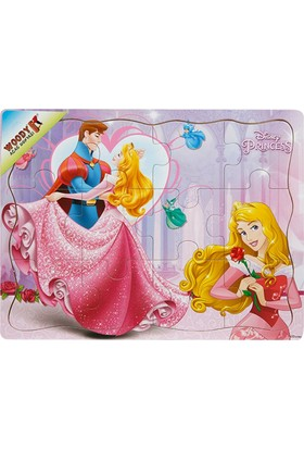 Woody Disney Princess 12 Parça Ahşap Oyuncak Yapboz Aurora Ve Prens