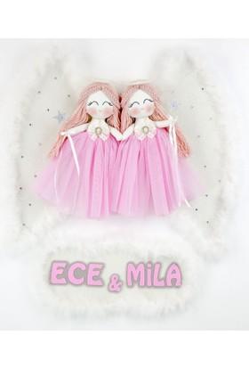 Renkli Hayallerim Begonya Melek Kanatlı Kızlar İkiz Bebek Kapı Süsü