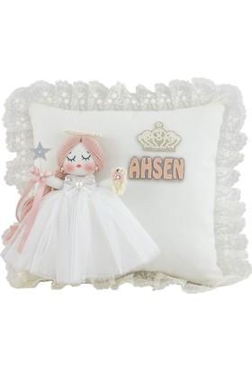 Renkli Hayallerim Mimoza Kız Bebek Takı Ve Süs Yastığı