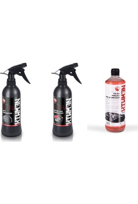 Newmix Jant Ve Motor Yağ Temizleyici,Cilalı Şampuan 3 Lü Set