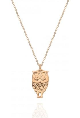 Pink Gold Store Puhu Kolye TA7913 Pembe Altın