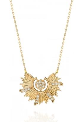 Pink Gold Store Otello'nun Güneşi Kolye TA6963 Sarı Altın