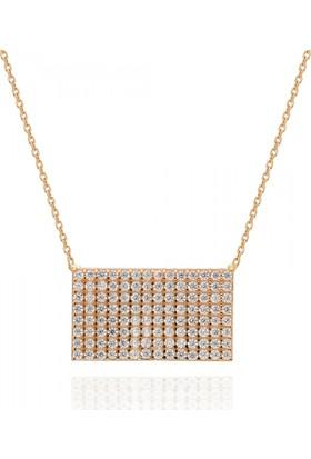 Pink Gold Store Valerio Plaka Kolye TA5002 Sarı Altın