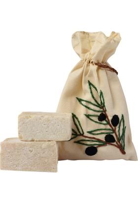 Çekül Vakfı Birgi - Zeytin Dalı İşlemeli Sabun Kesesi & Sabun