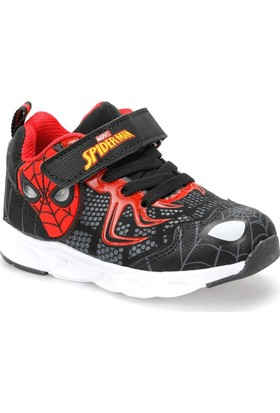 Spiderman Worgen Siyah Erkek Çocuk Athletic Ayakkabı
