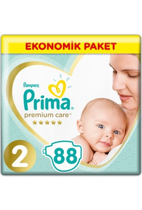 Prima Bebek Bezi Premium Care 2 Beden Mini Ekonomik Paket 88 Adet