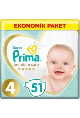 Prima Bebek Bezi Premium Care 4 Beden Maxi Ekonomik Paket 51 Adet