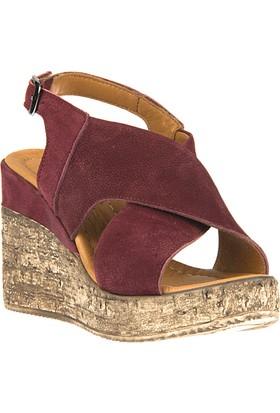 Ziya Kadın Hakiki Deri Sandalet 8176 6138 Bordo