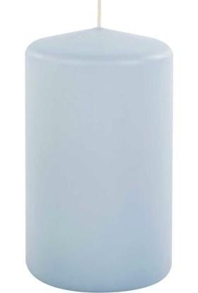 Kullan At Market Kütük Mum Açık Mavi 6 cm x 10 cm