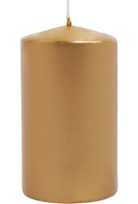 Kullan At Market Kütük Mum Altın 6 cm x 10 cm