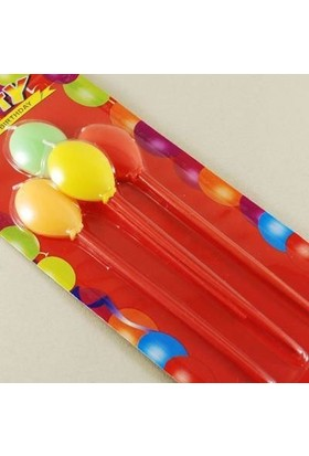 Partici Balonlar Temalı Renkli Mum Seti
