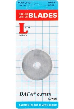 Dafa Rulet Kumaş Kesici Yedek Düz Bıçak 45Mm