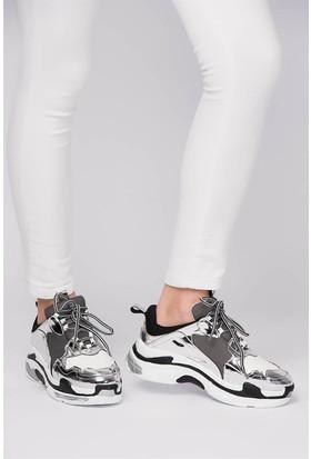Fox Shoes Lame Beyaz Kadın Sneakers D592410134