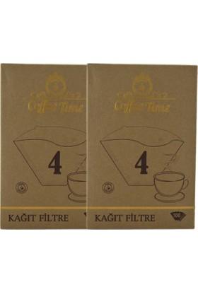 Coffee Time 1X4 Kahve Filtre Kağıdı 100X2 Toplamda 200 Adet