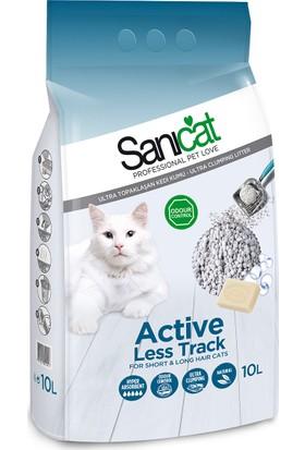 Sanicat Active Less Track Marsilya Sabunu Kokulu Kalın Taneli Kedi Kumu 10 Lt