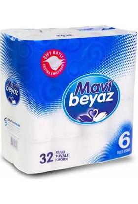 Mavi Beyaz Çift Kat Tuvalet Kağıdı 32 Li