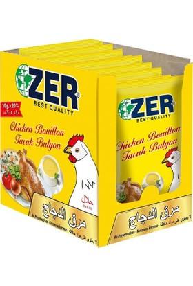 Zer Tavuk Bulyon Toz 10 gr x 20 Poşet x 4