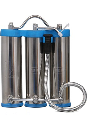 Aqua Tezgah Üstü Portatif Su Arıtma Cihazı 3 Filtreleme Çelik Cihaz