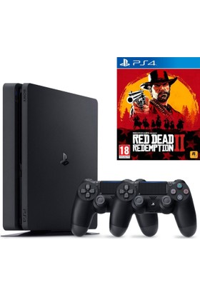 Sony Ps4 Slim 1Tb Oyun Konsolu + 2. Ps4 Kol + Ps4 Red Dead Redemption 2 Oyun