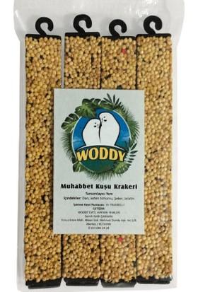 Woddy Muhabbet Kuşu Krakeri 4'Lü