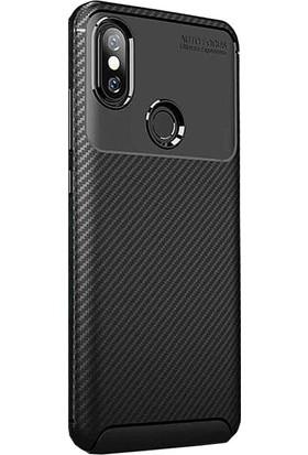 CoverZone Xiaomi Mi A2 Lite Kılıf Xiaomi Redmi 6 Pro Kılıf Karbon Delüx TPU Silikon Siyah - PDK150