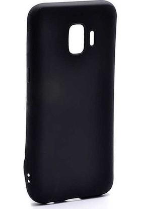 CoverZone Samsung Galaxy J2 Core Kılıf Premier Silikon Siyah + Temperli Ekran Koruma - PRE60