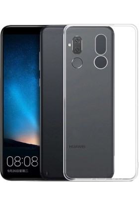KNY Huawei Mate 20 Lite Kılıf Ultra İnce Şeffaf Silikon + Cam Ekran Koruyucu