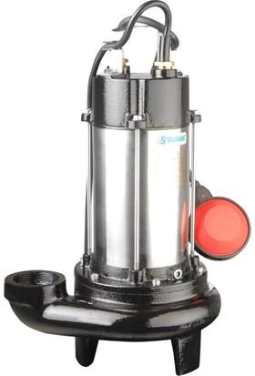 Sumak Sbrm18/2P Parçalayıcı Bıçaklı Foseptik Dalgıç Pompa Monofaze (220V) 1.8 Hp