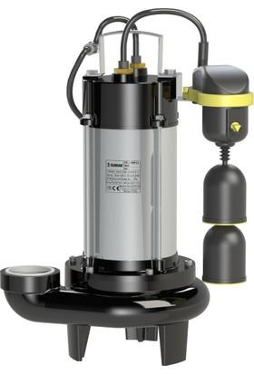 Sumak Sbrm 18/2P-A Asansör Flatörlü Parçalayıcı Bıçaklı Foseptik Dalgıç Pompa 220 Volt 1.8 Hp