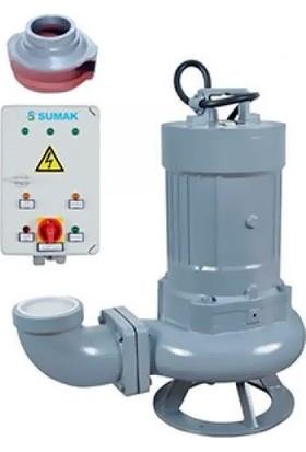 Sumak Sdtk150/4 Foseptik Dalgıç Pompa Trifaze (380V) 15Hp