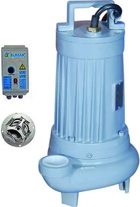 Sumak Sbrt75/2-P Parçalayıcı Bıçaklı Foseptik Dalgıç Pompa Trifaze (380V) 7.6Hp