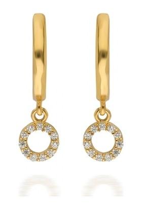 Pink Gold Store Valerio Galaxy Küpe Ta2229 Pembe Altın